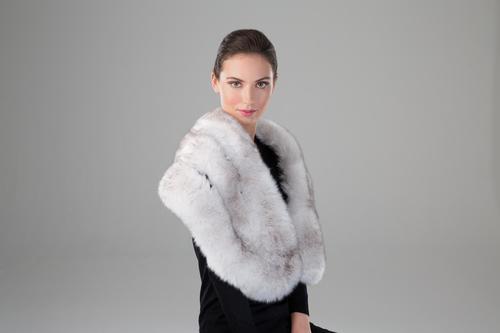 Faux Fox Fur Stole