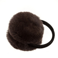 Rex Rabbit Earmuff with Skinny Velvet Band in Brown