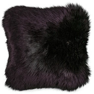 Shearling Lamb (Sheepskin) Pillow in Black