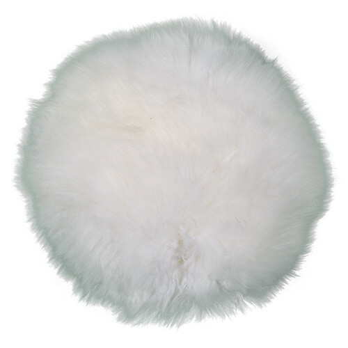 Round Pillow in White