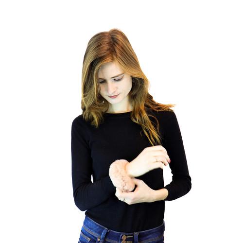 Blush Rex Rabbit Bracelet