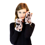 Frosted Spot Rex Rabbit Fur Texting mittens