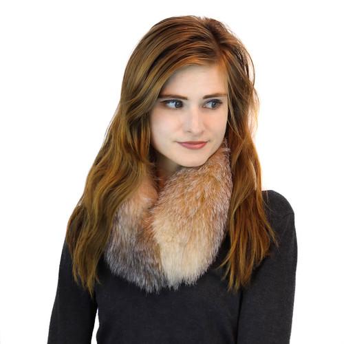 Crystal Fox Fur Collar