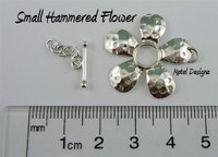 Small Sterling Flower Toggle