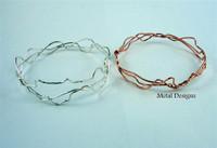 Sterling Silver Squiggle Bangle Bracelet
