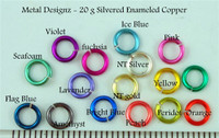 "Silvered Enameled Copper 20 gauge 7/64"" id."