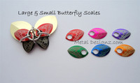 Butterfly Engraved Anodized Aluminum Small Scales -pair
