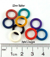 Rubber Jump Rings 12mm