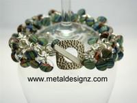 Shaggy Lamp Work Beaded Sterling Bracelet Kit