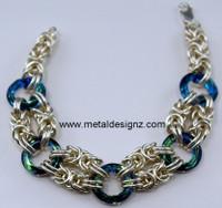 Cosmic Ring Byzantine Bracelet Kit- Sterling Silver