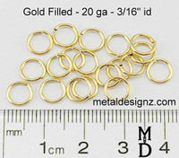 "Gold Fill 20 Gauge 3/16"" id."