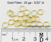 "Gold Fill 20 Gauge 5/32"" id."
