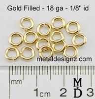 "Gold Fill 18 Gauge 1/8"" id."