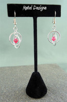 Hoops Earrings with Swarovski Crystal Drops