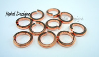 "Square Copper Jump Rings 16 Gauge 7/32"" id."