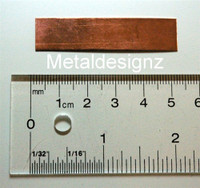 Copper Sheet - 2 inch by .5 inch
