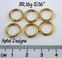 "Jewelers Brass Jump Rings 16 Gauge 5/16"" id."