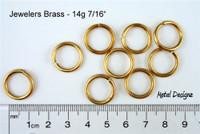 """Jewelers Brass 14 Gauge 7/16"""" id."""