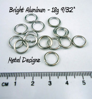 "Bright Aluminum Jump Rings 18 Gauge 9/32"" id"