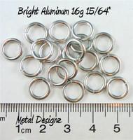 """Bright Aluminum Jump Rings 16 Gauge 15/64"""" id."""