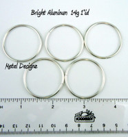 "Bright Aluminum Jump Rings 14 Gauge 1"" id."