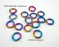 "Anodized Niobium Jump Rings 20 Gauge 3/16"" id."