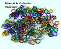 Anodized Aluminum Jump Rings 20 Gauge 1/8""