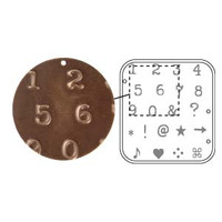 AVINTAJ DECOEMBOSS DIE TYPEWRITER NUMBERS- Metal Folders for sizzix or cuttlebug
