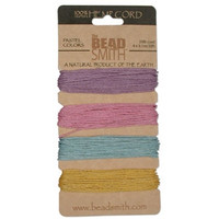 HEMP 4 COLOR CARD 1.0MM 20 LB TEST PASTEL COLRS -half price one left only!
