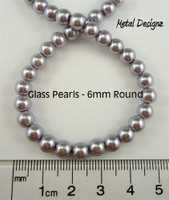 Pearls, Simulated Glass Pearl, 6mm Round