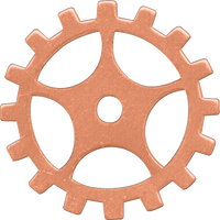 19mm Copper sprocket blanks