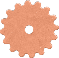 16mm Copper gear blanks
