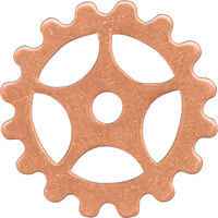 16mm Copper sprocket blanks