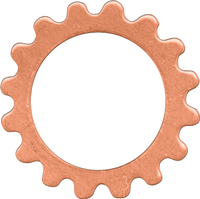 16mm Copper gear link blanks