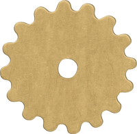 16mm Brass gear blanks