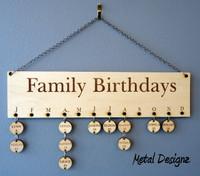 Family Birthday Board - DIY project