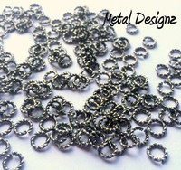 """Stainless Steel Twisted Wire Jump Rings - 18g 1/4"""""""