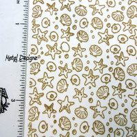 Rolling Mill Pattern -Star Fish - Laser Texture Paper - Metal Designz Shop now
