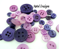 Button Pouch - 3 oz of mixed coloured buttons
