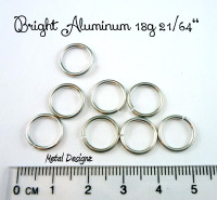 Bright Aluminum Jump Rings 18 Gauge 21/64""