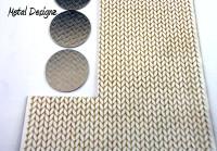 Laser Cut Texture Paper - Knitting