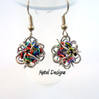 CHAINMAIL - Japanese 12-1 earrings - Little ball earring kit - buy now in Canadian dollars