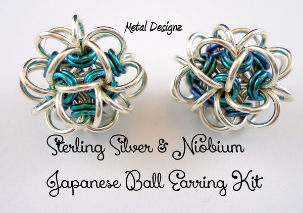 Sterling Silver and Niobium Earring - Buy top Quality rings here.  Shop our stunning colour choices! Japanese Earrings.