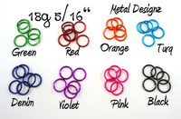New Anodized Aluminum Jump Rings 18 Gauge 5/16""