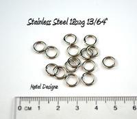 """Stainless Steel Jump Rings 18 Gauge 13/64"""" id."""