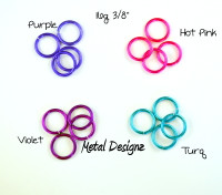 New Anodized Aluminum Jump Rings 16 Gauge 3/8""