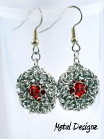 Byzantine Captured Rivoli Earring Kit - Makes 3 Pairs of Earring
