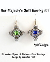 Her Majesty's Quilt Earring Kit-Rings, Findings & Crystals - No tutorial