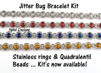 Jitter Bug Bracelet kit- Stainless Steel & Quadralentil Beads