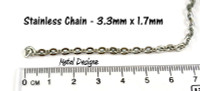 Stainless Steel Chain - 3.3mm - By the foot